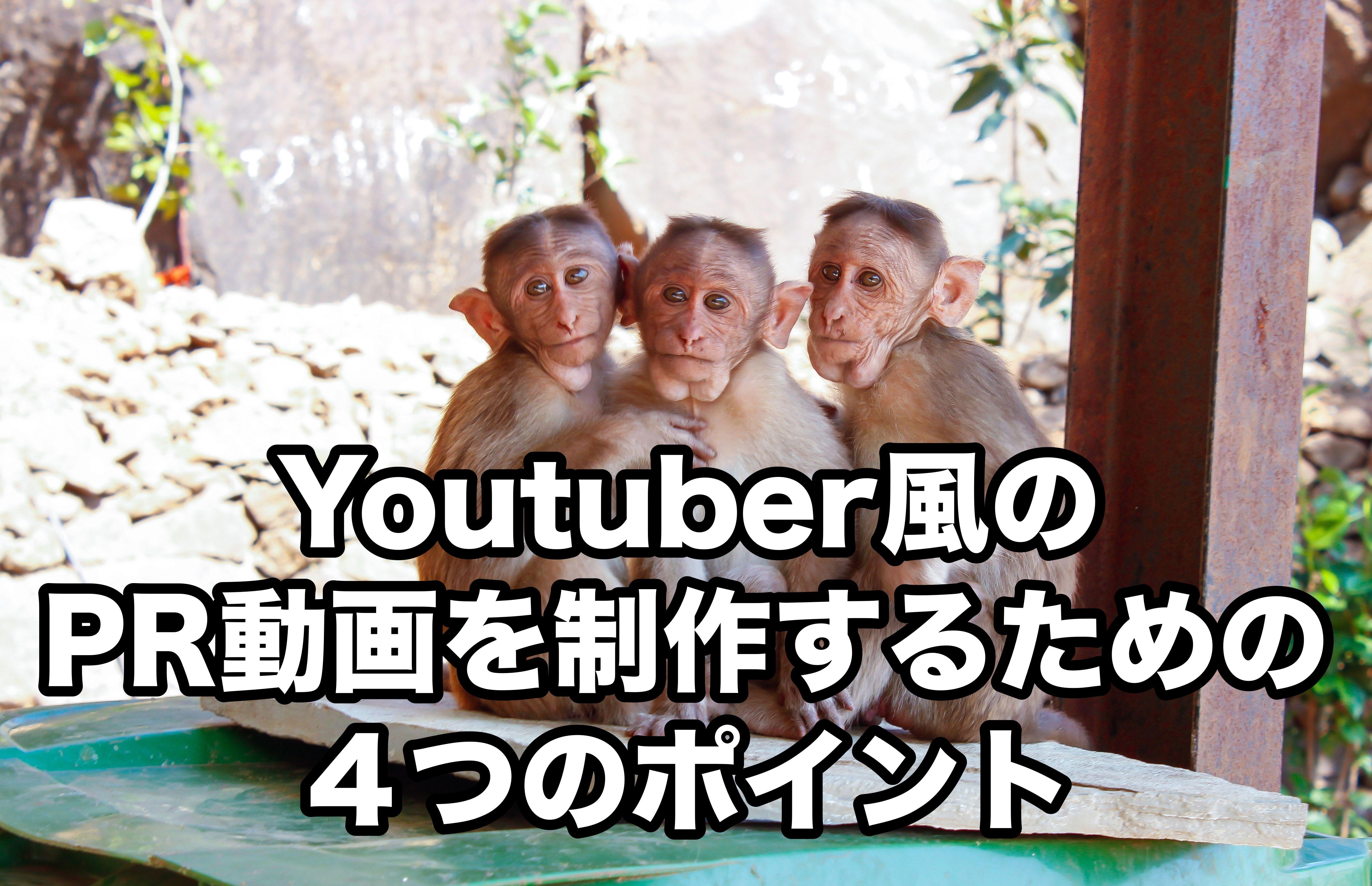 Youtuber風のPR動画を制作するための4つのポイント